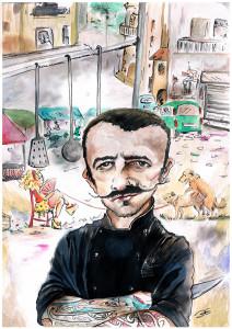 Caricatura Chef Rubio