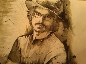 johnny-depp-acquerello