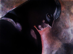 Dark Knight |Oil on water paper
