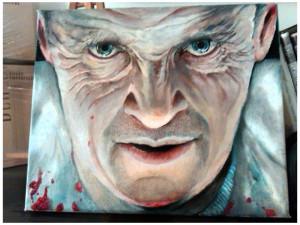 Hannibal Lecter - 30x25 cm | Olio su tela