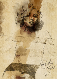 Marilyn Monroe -illustrazione