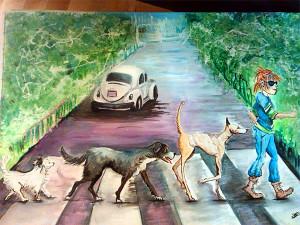 Abbey Road illustrazione personalizzata