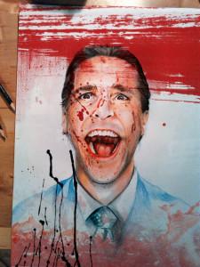 Christian Bale - American Psycho  Tecnica mista su carta